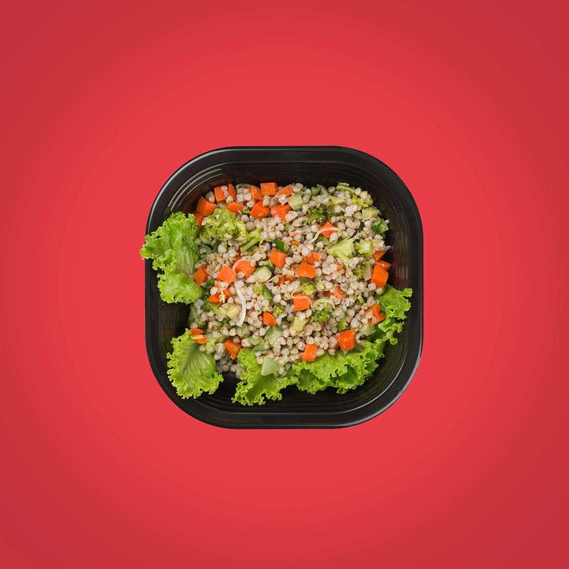 piatti pronti a domicilio salutari grano saraceno e verdure saltate