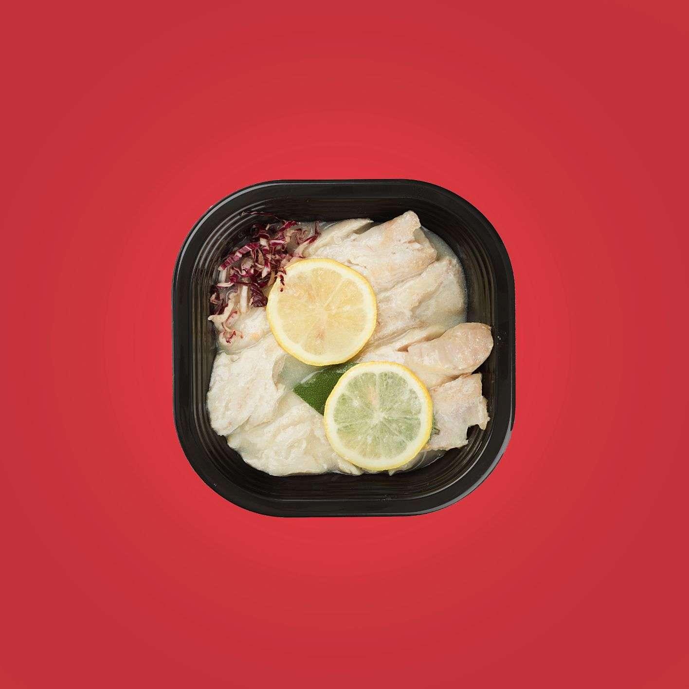 nasello alla mugnaia con limone e alloro piatti pronti a domicilio