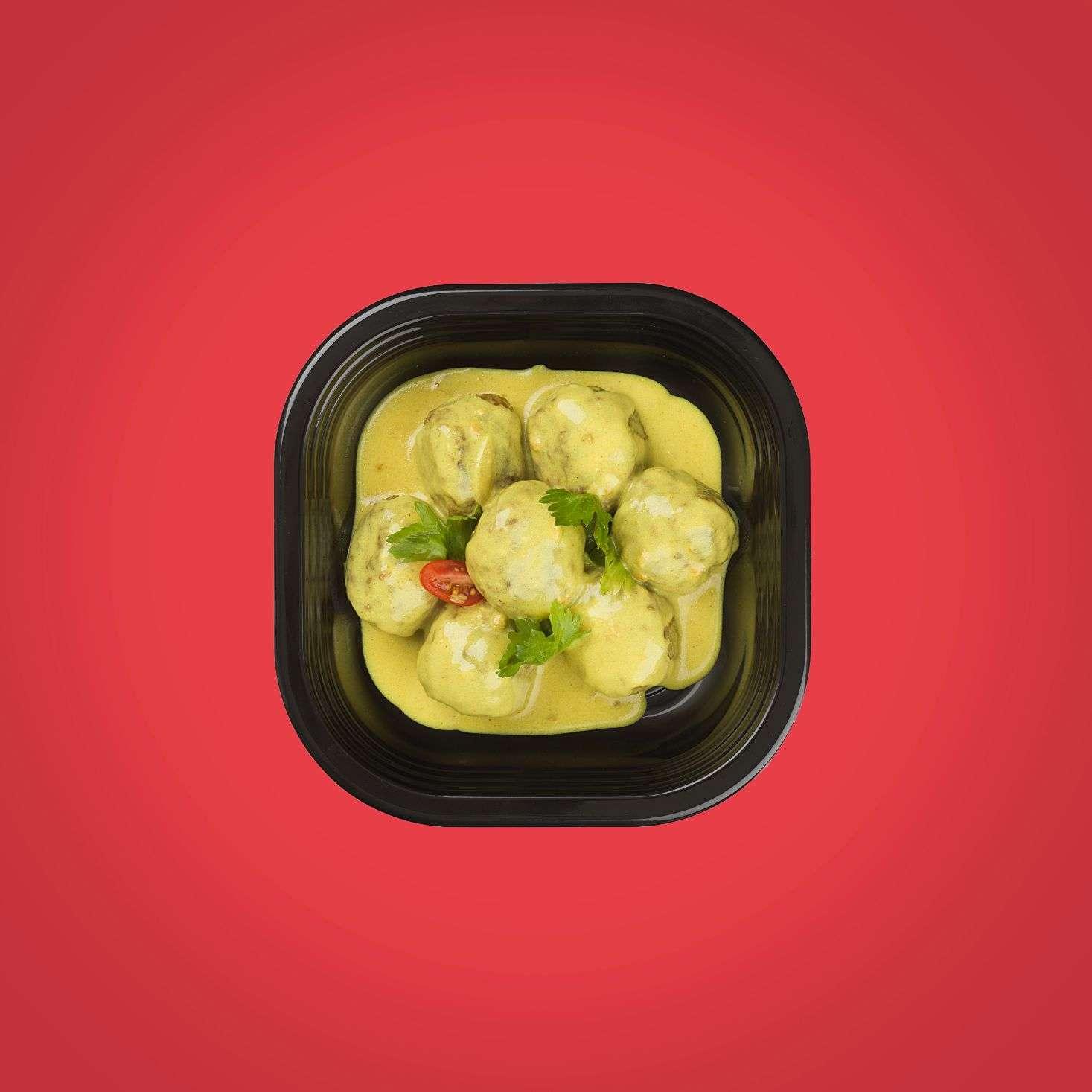 polpette di vitello al curry piatti pronti a domicilio senza glutine